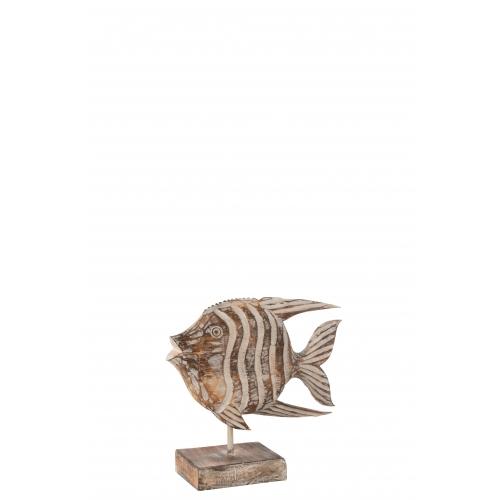 Статуэтка рыба J-LINE деревянная настольная высота 27 см Бельгия