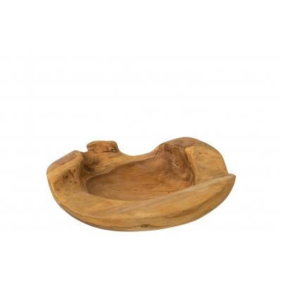 Блюдо J-LINE фигурное из натурального дерева диаметр 40 см Бельгия