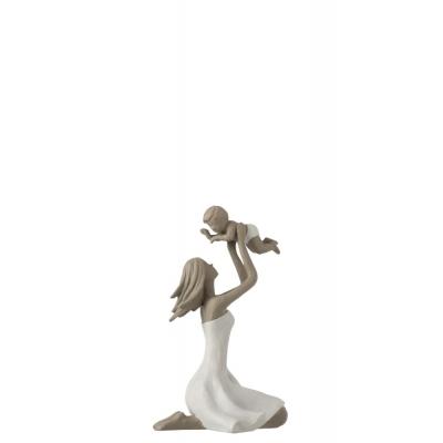 Статуэтка мама с ребенком  J-LINE высота 18 см