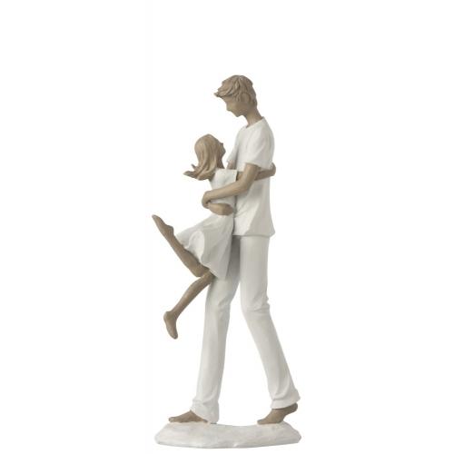 Статуэтка папа с дочкой  J-LINE высота 34 см