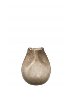Ваза J-LINE стеклянная фигурная коричневого цвета высота 25 см Бельгия