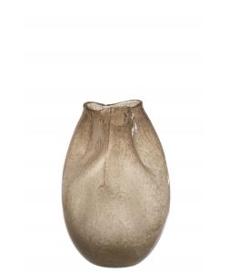 Ваза J-LINE стеклянная фигурная коричневого цвета высота 37 см Бельгия