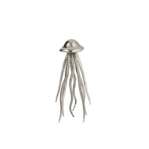Статуэтка J-LINE осьминог серебристого цвета высота 30 см Бельгия