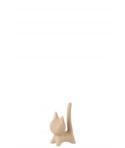 Статуэтка Кот J-LINE бежевый высота 12 см фарфор Бельгия