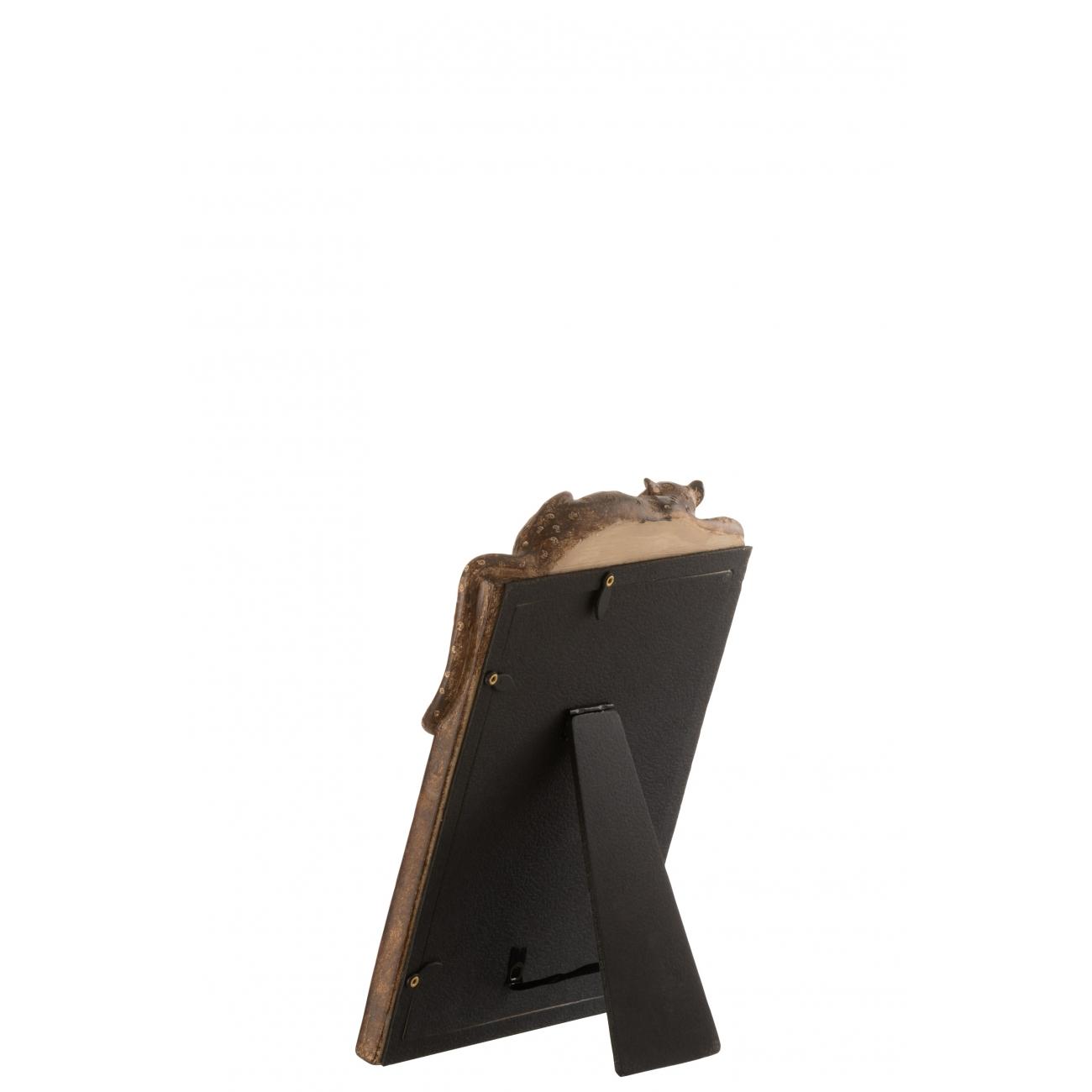 Фоторамка J-LINE коричневая с декором леопард 13x18 см Бельгия