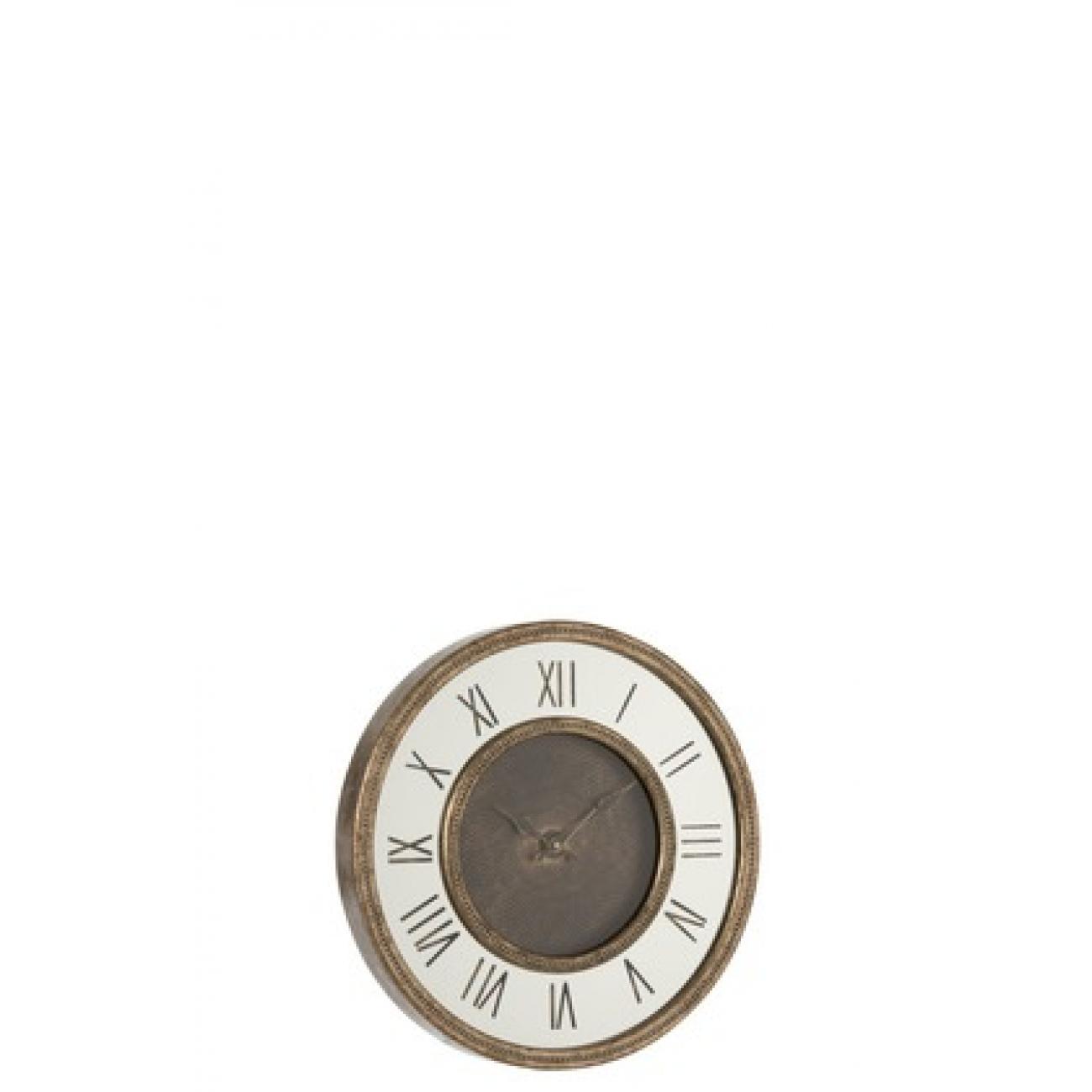Настенные часы J-LINE в корпусе из мдф с зеркальной вставкой диаметр 48 см