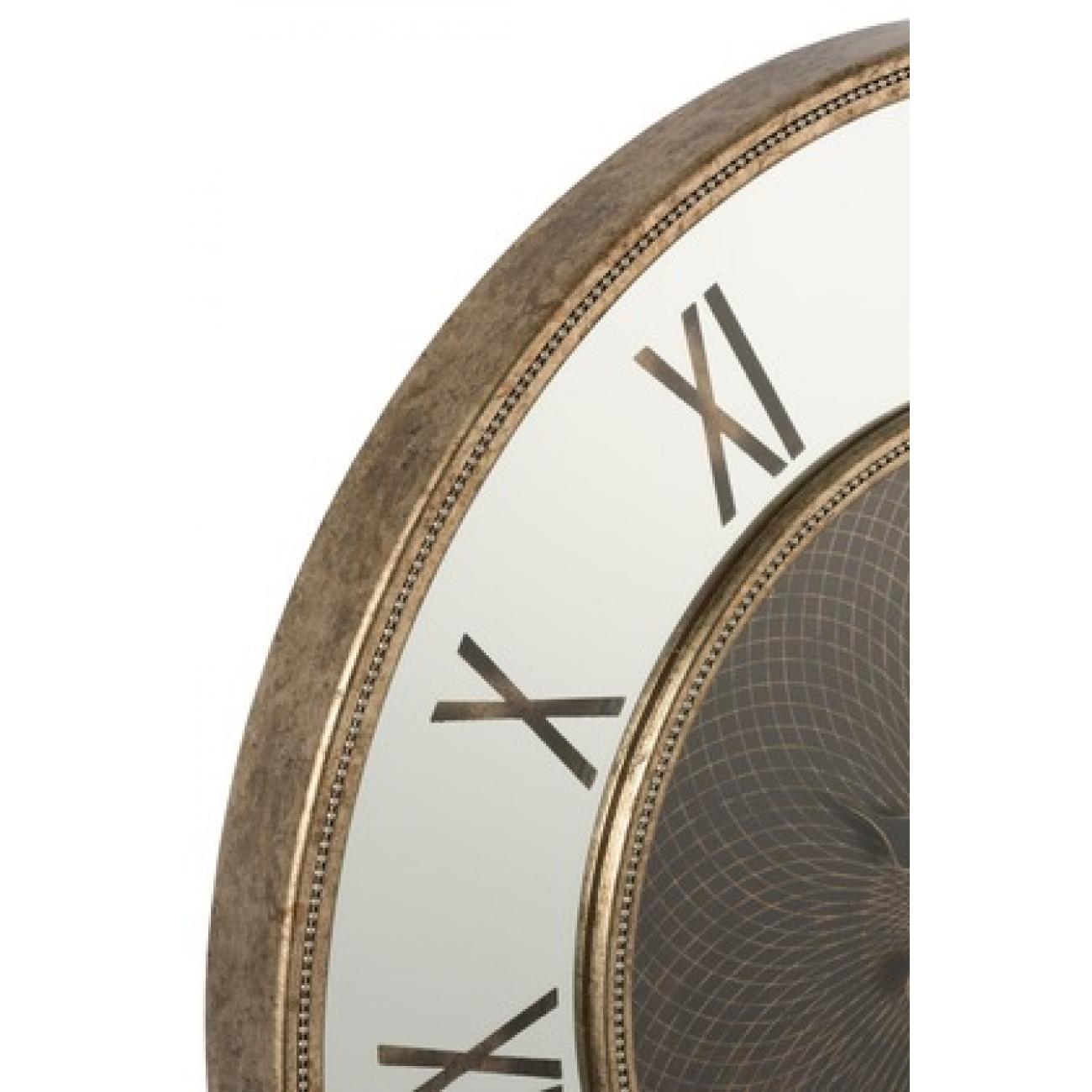 Настенные часы J-LINE в корпусе из мдф с зеркальной вставкой диаметр 80 см