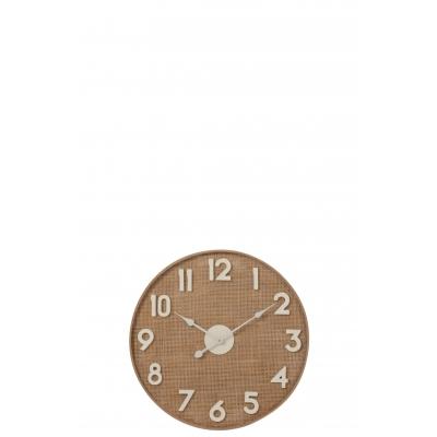 Настенные часы J-LINE круглые бежевые в деревянном корпусе 62 см Бельгия