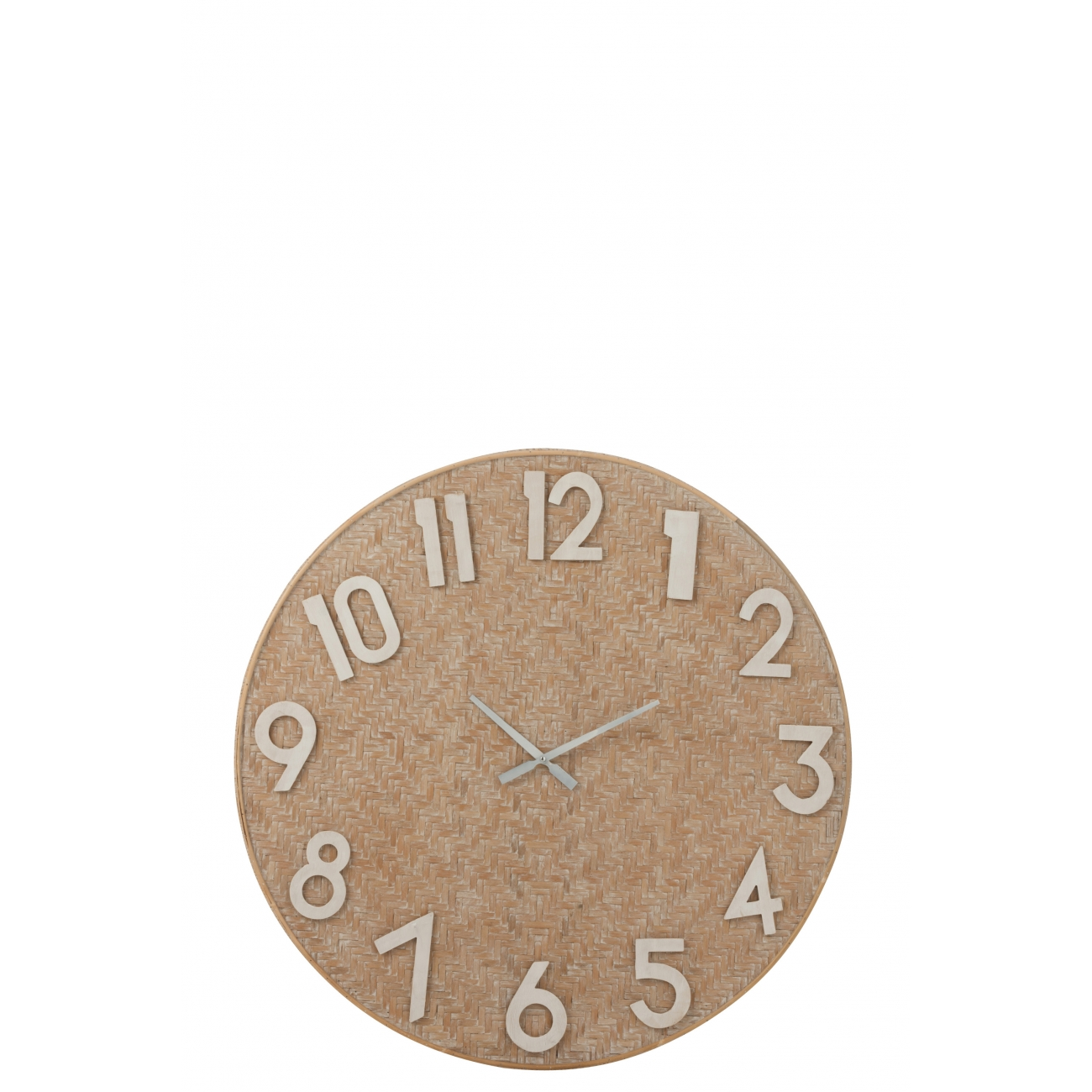 Настенные часы J-LINE круглые бежевые в корпусе из плетенного камыша 92 см Бельгия