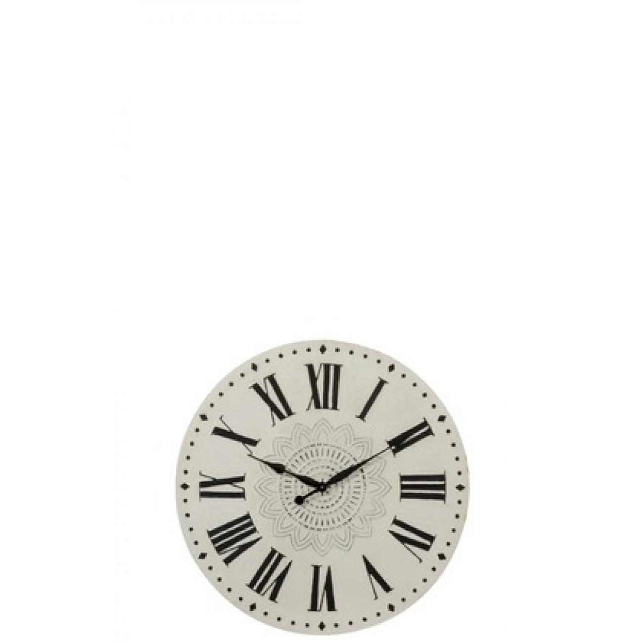 Настенные часы J-LINE белые круглые в металлическом  корпусе диаметр 74 см