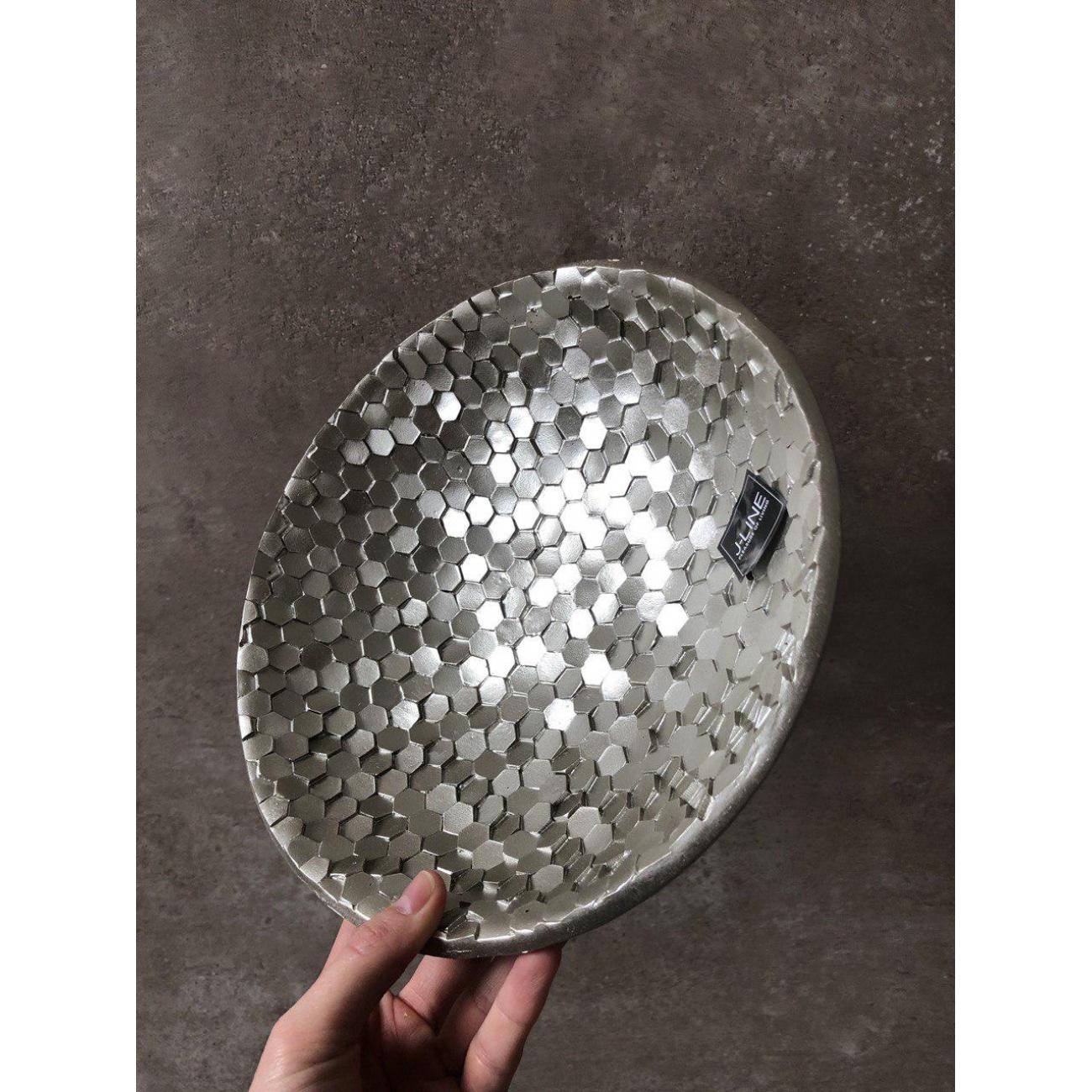 Блюдо J-LINE круглое керамическое 25 см