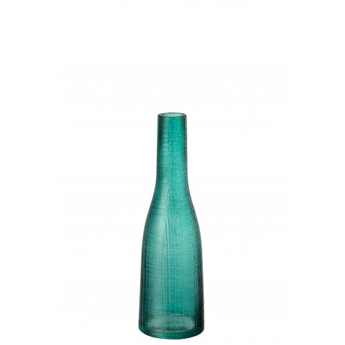Ваза J-LINE стеклянная узкая голубого цвета высота 29 см Бельгия