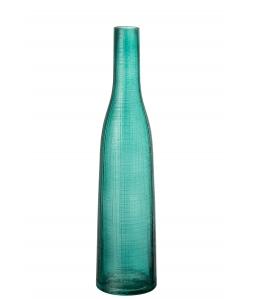 Ваза J-LINE стеклянная узкая голубого цвета высота 38 см Бельгия