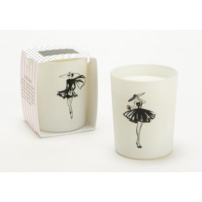 Свеча AMADEUS ароматическая в белой шкатулке аромат цветочный бергамот идентичный chloe new  Франция