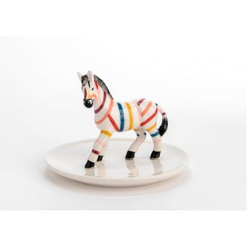 Держатель  для украшений KORB  держатель для украшений в форме лошади зебры разноцветный Франция