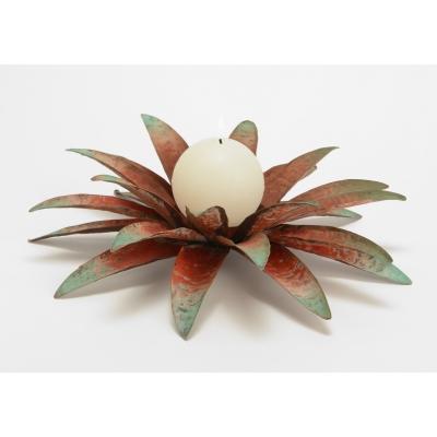 Подсвечник AMADEUS в форме цветка металлический диаметр 32 см Франция
