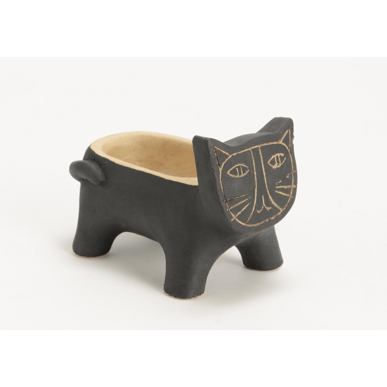 Кашпо AMADEUS в форме кота черного цвета длина 16 см Франция