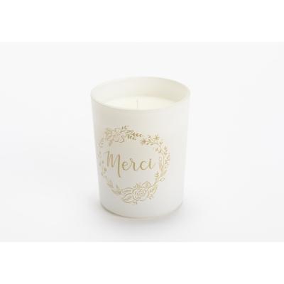 Свеча AMADEUS ароматическая в белой шкатулке Merci аромат древесно-пудровый Франция