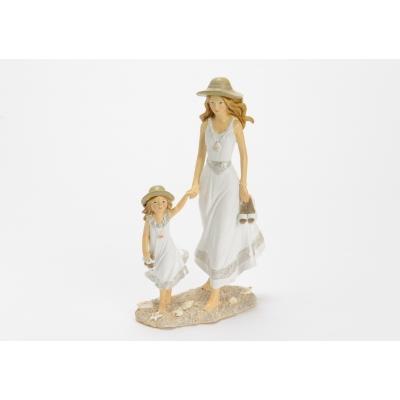 Статуэтка мама с дочкой  AMADEUS высота 25 см Франция