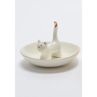 Держатель для украшений AMADEUS в форме кошки белый Франция