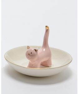 Держатель для украшений AMADEUS в форме кошки розовый Франция