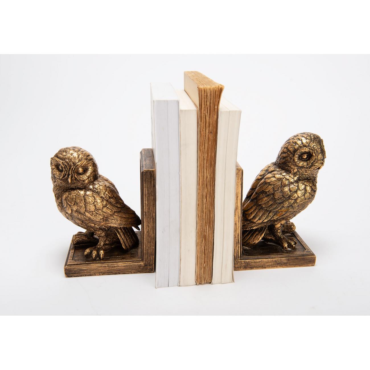 Держатели декоративные для книг AMADEUS совы высота 17 см Франция