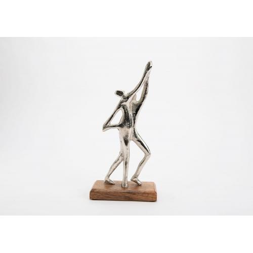 Статуэтка AMADEUS пара танцует серебристая дерево и алюминий высота 32 см Франция