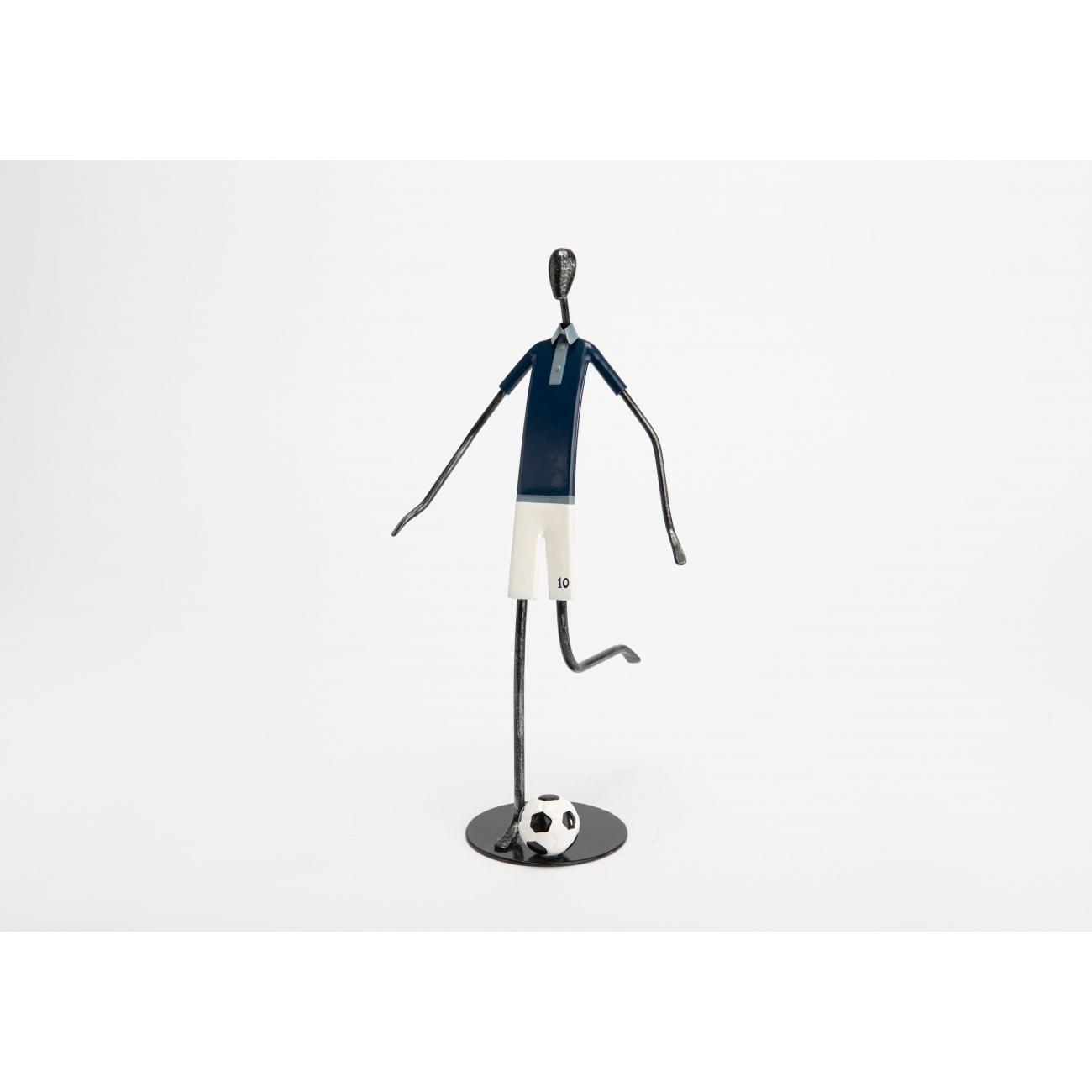 Статуэтка футболиста AMADEUS металлическая высота 34 см Франция