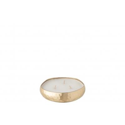 Свеча J-LINE ароматическая  в металлической золотой шкатулке аромат дерево и амбра 15 часов Бельгия