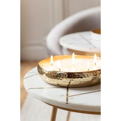 Свеча J-LINE ароматическая  в металлической золотой шкатулке аромат дерево и амбра 20 часов Бельгия