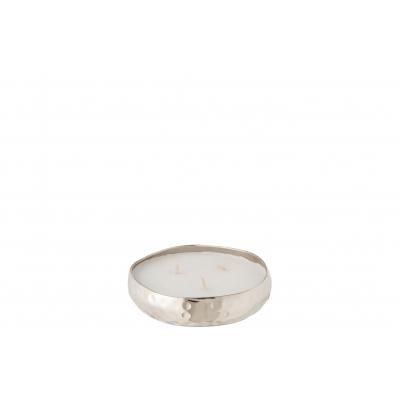 Свеча J-LINE ароматическая  в металлической серебряной шкатулке аромат сладкий цитрус 15 часов Бельгия
