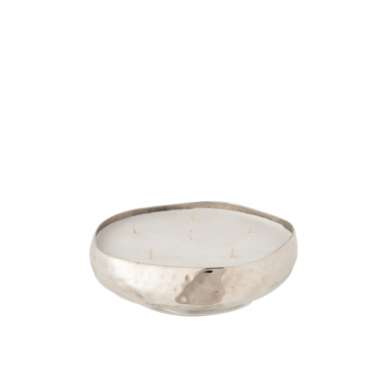 Свеча J-LINE ароматическая  в металлической серебряной шкатулке аромат дерево и амбра 20 часов Бельгия
