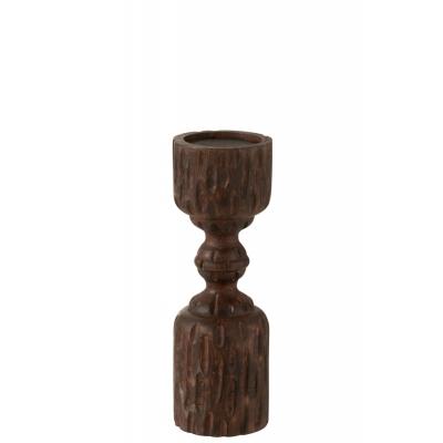 Подсвечник J-LINE деревянный из дерева манго высота 30 см