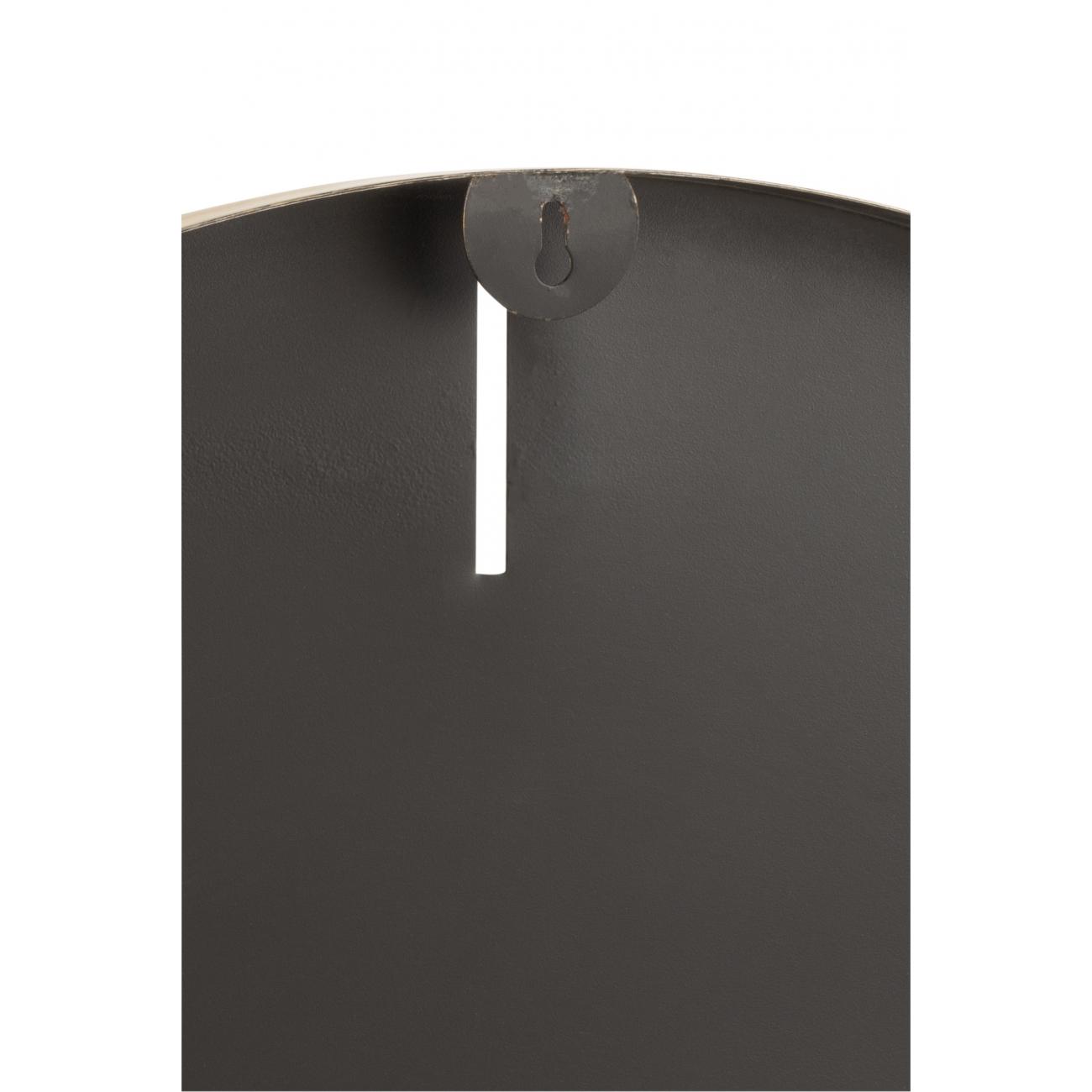 Настенные часы  J-LINE круглые золотистые в матовом алюминиевом корпусе диаметр 76 см Бельгия