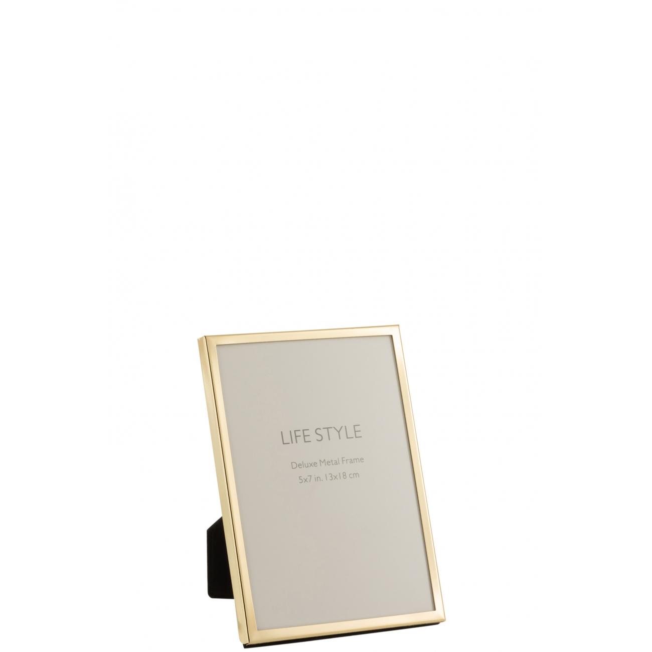 Фоторамка J-LINE металлическая золотого цвета 13х18 см Бельгия