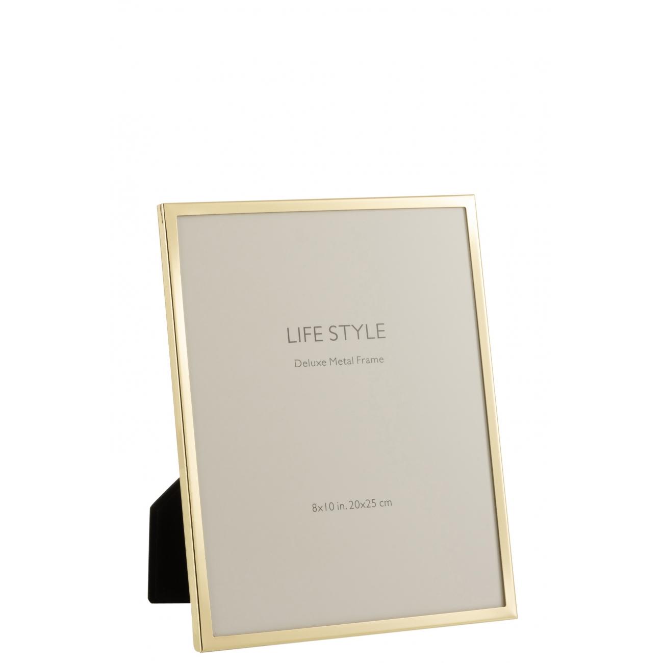 Фоторамка J-LINE металлическая золотого цвета 20х25 см Бельгия