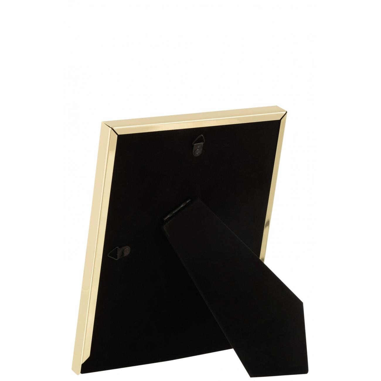 Фоторамка J-LINE металлическая зеркальная золотого цвета 20x25 см Бельгия