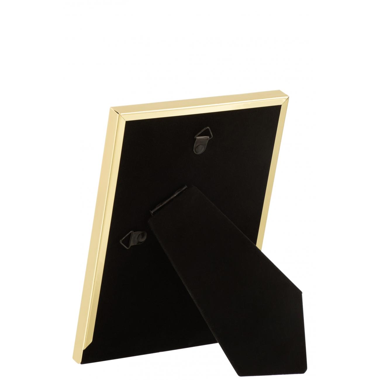 Фоторамка J-LINE металлическая классическая золотистая 10x15 см Бельгия