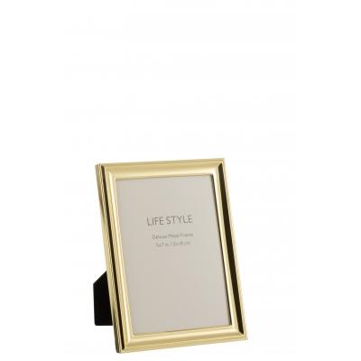 Фоторамка J-LINE металлическая классическая золотистая 13х18 см Бельгия