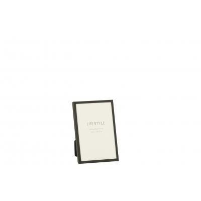 Фоторамка J-LINE металлическая черного цвета 10х15 см Бельгия