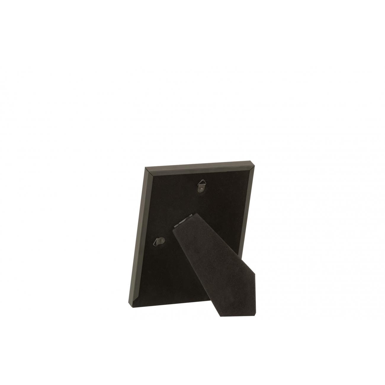 Фоторамка J-LINE металлическая матовая в черном цвете 10x15 см Бельгия