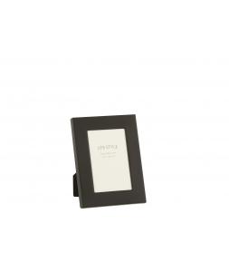 Фоторамка J-LINE металлическая широкий металл черного цвета 10x15 см Бельгия