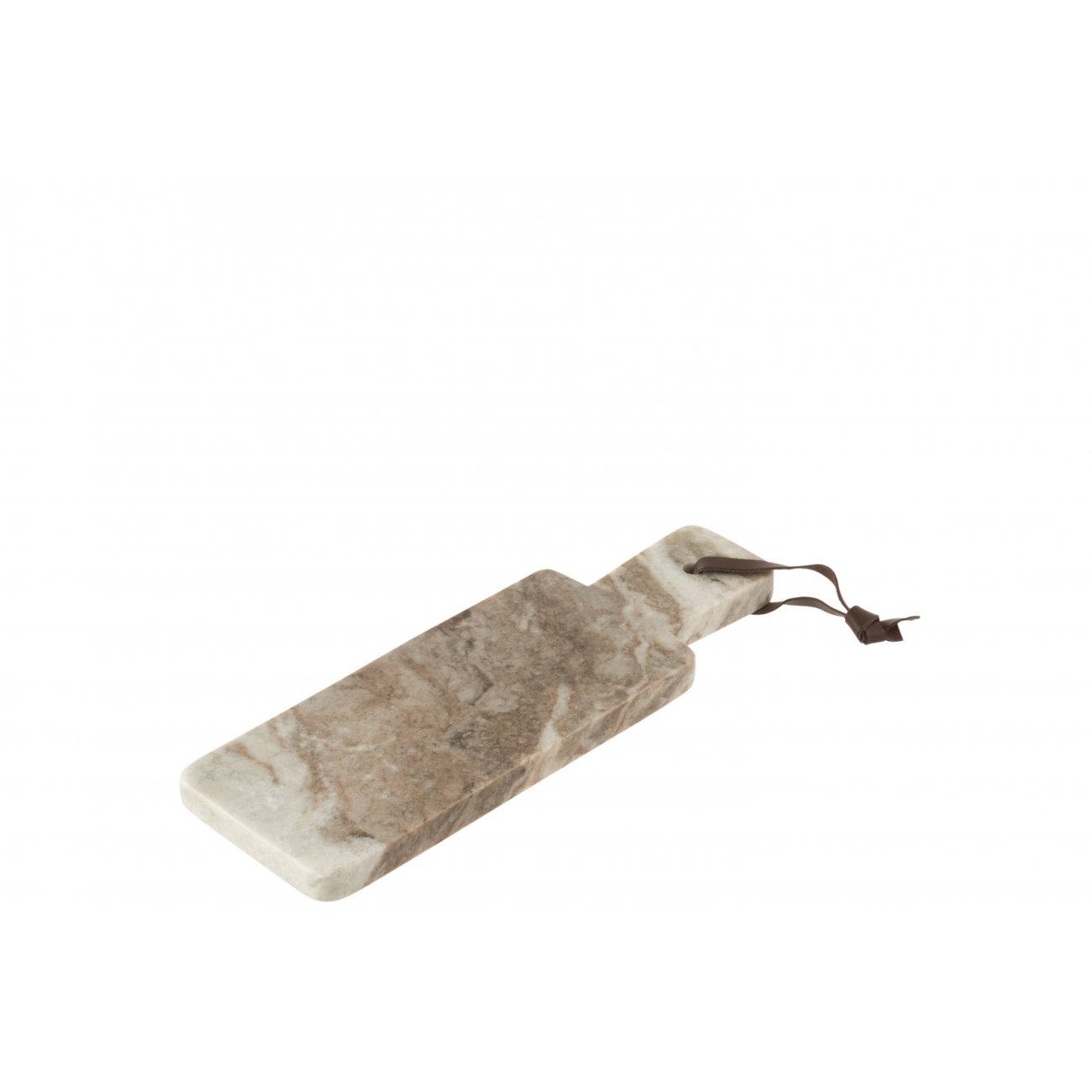 Доска для сервировки J-LINE каменная бежевого цвета 30х10 см Бельгия