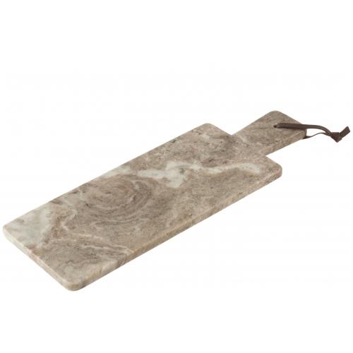 Доска для сервировки J-LINE каменная бежевого цвета 49х17 см Бельгия