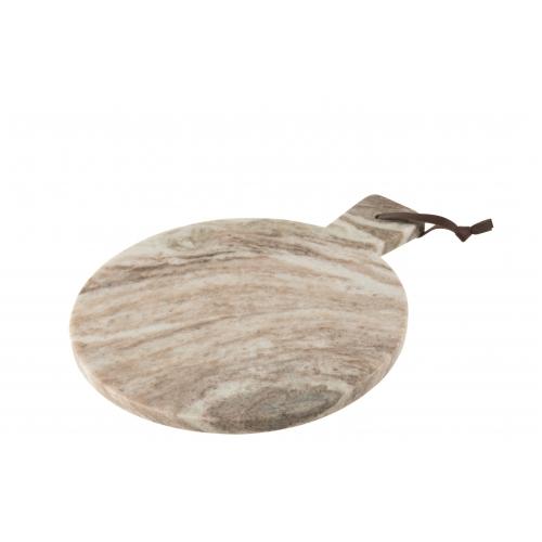 Доска для сервировки J-LINE каменная бежевого цвета 38х30 см Бельгия