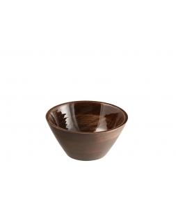 Блюдо салатник J-LINE из дерева манго коричневого цвета диаметр 24 см Бельгия
