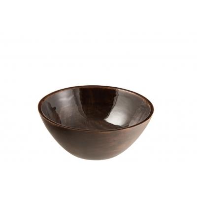 Блюдо салатник J-LINE из дерева манго коричневого цвета диаметр 30 см Бельгия