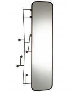 Зеркало J-LINE настенное прямоугольное в черной металлической раме 112х49 см Бельгия