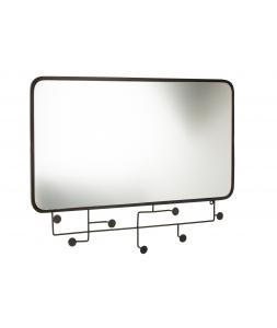Зеркало J-LINE настенное прямоугольное в черной металлической раме 82х63 см Бельгия