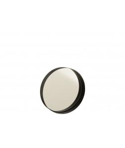 Зеркало J-LINE настенное круглое в черной металлической раме диаметр 30 см Бельгия